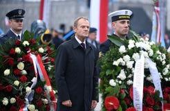 Celebración del 100o aniversario de recuperar independencia por Polonia fotos de archivo libres de regalías