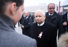 Celebración del 100o aniversario de recuperar independencia por Polonia fotografía de archivo libre de regalías