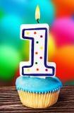 Celebración del primer año cualquiera para un cumpleaños Imagen de archivo libre de regalías
