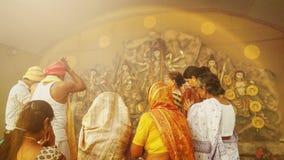 Celebración del puja de Durga Fotografía de archivo