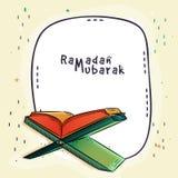 Celebración del Ramadán con el Quran Shareef Fotos de archivo