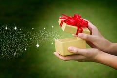Celebración del rectángulo de regalo Foto de archivo libre de regalías