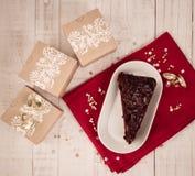 Celebración del regalo y de la comida de la Navidad Foto de archivo