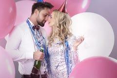 Celebración del ` s Eve del Año Nuevo Imagen de archivo libre de regalías