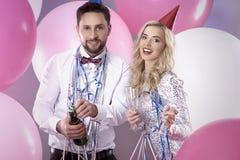 Celebración del ` s Eve del Año Nuevo Fotografía de archivo libre de regalías