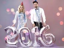Celebración del ` s Eve del Año Nuevo Imagenes de archivo