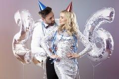 Celebración del ` s Eve del Año Nuevo Fotografía de archivo