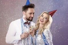 Celebración del ` s Eve del Año Nuevo Imágenes de archivo libres de regalías