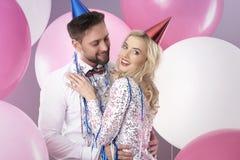 Celebración del ` s Eve del Año Nuevo Fotos de archivo libres de regalías