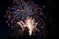 Celebración del saludo de los fuegos artificiales Imagen de archivo