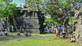 Celebración del templo en Bali, Indonesia Foto de archivo libre de regalías