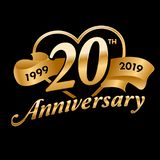 Celebración del vigésimo aniversario de los años ilustración del vector