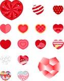 Celebración determinada de la amistad de la etiqueta engomada del corazón de la tarjeta del día de San Valentín Foto de archivo libre de regalías