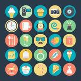 Celebración e iconos coloreados partido 2 del vector Fotografía de archivo libre de regalías