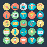 Celebración e iconos coloreados partido 3 del vector Imagen de archivo