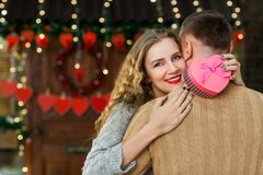 Celebración el día del ` s de la tarjeta del día de San Valentín Imagen de archivo libre de regalías