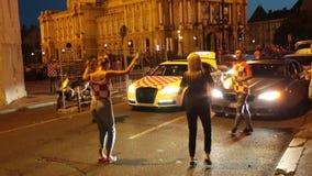 Celebración en capital croata después de la FIFA final 2018 mundiales almacen de video