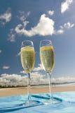 Celebración en la playa Fotografía de archivo libre de regalías
