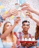 Celebración feliz de un cumpleaños Fotos de archivo libres de regalías