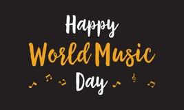Celebración feliz del día de la música del mundo stock de ilustración