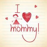 Celebración feliz del día de madre con el texto elegante Imagen de archivo libre de regalías