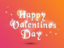 Celebración feliz del día de tarjeta del día de San Valentín con el texto 3D Fotografía de archivo