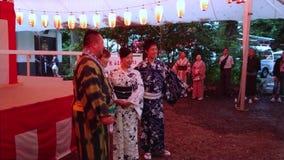 Celebración grande - banquete anual en la capilla de Hie en Tokio - TOKIO/JAPÓN - 15 de junio de 2018 almacen de video