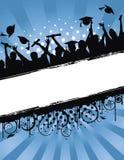 Celebración Grunge de la graduación stock de ilustración