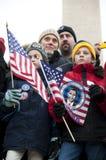 Celebración inaugural en el monumento de Washington Fotografía de archivo