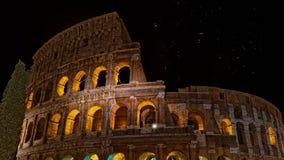 Celebración 4k video de los fuegos artificiales de Roma Colosseum almacen de metraje de vídeo