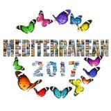 Celebración mediterránea del Año Nuevo 2017 Imagen de archivo libre de regalías