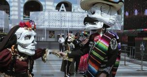 Celebración mexicana del carnaval de los muertos metrajes