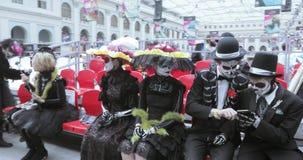 Celebración mexicana del carnaval de los muertos almacen de metraje de vídeo