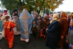 Celebración religiosa Pokrov fotografía de archivo