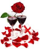 Celebración romántica del día de fiesta fotos de archivo