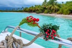Celebración tropical de la Navidad Imágenes de archivo libres de regalías