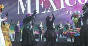 Celebraci?n mexicana del carnaval de los muertos metrajes