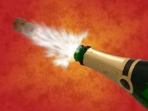 Celebración con los bubles del champán de la bebida, Año Nuevo Imagenes de archivo