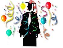 Celebración de la graduación Imágenes de archivo libres de regalías