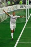 Celebración de la meta de Ronaldo Imagenes de archivo