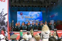 Celebración de Victory Day en Moscú Imagenes de archivo