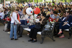 Celebración de Victory Day en Moscú Foto de archivo libre de regalías