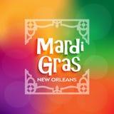 Celebración del cartel de Mardi Gras Fotografía de archivo libre de regalías