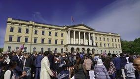Celebración del día de rey At The National de Noruega Fotografía de archivo