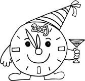Celebración del reloj de alarma Foto de archivo libre de regalías