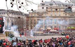 Celebraciones chinas del Año Nuevo. Imagen de archivo libre de regalías