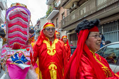 Celebraciones chinas del Año Nuevo en Usera Madrid, España Imagen de archivo