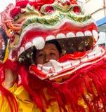 Celebraciones chinas del Año Nuevo en Usera Madrid, España Foto de archivo libre de regalías