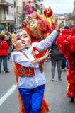 Celebraciones chinas del Año Nuevo en Usera Madrid, España Imágenes de archivo libres de regalías