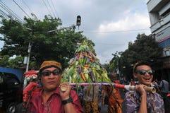 celebraciones de la cosecha en Indonesia Imagen de archivo